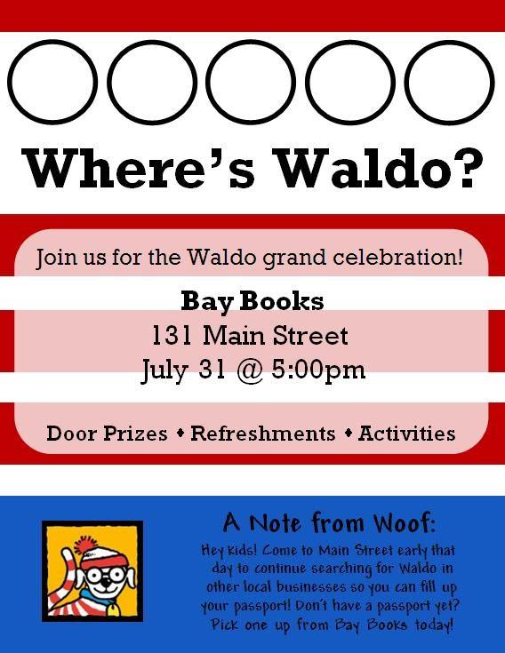 Where's Waldo Jeremy Burke Bay Books Old Town Bay St Louis Bay Harbor Fest Party Waveland